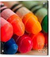 Crayons 2 Acrylic Print