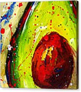 Crazy Avocado 2 - Modern Art Acrylic Print