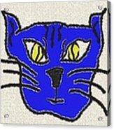 Crazy Cat Acrylic Print by Leeann Stumpf