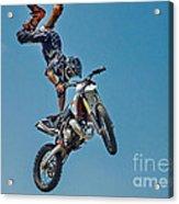 Crazy Motorcycle Rider Acrylic Print