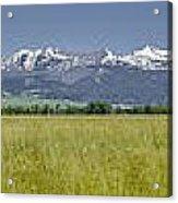 Crazy Mountain Range Acrylic Print