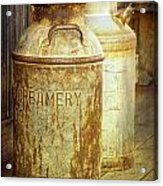 Creamery Cans In 1880 Town No 3098 Acrylic Print