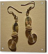Create In Silver Earrings Acrylic Print by Jenna Green