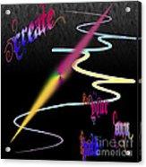 Create Your Own Path Verbally II Acrylic Print