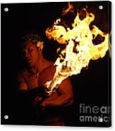 Creating With Fire Acrylic Print