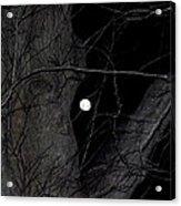 Creepy Tree And Full Moon Acrylic Print