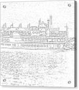 Creole Queen Sketch Acrylic Print