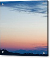Crescent Moon Twilight Acrylic Print