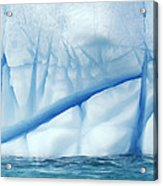 Crevasses Created By The Melting Acrylic Print