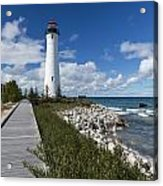 Crisp Point Lighthouse 10 Acrylic Print