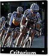 Criterium With Caption Acrylic Print