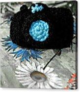 Crochet Camera Bw Acrylic Print