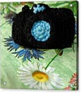 Crochet Camera Color Acrylic Print