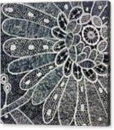 Crochet Flower Acrylic Print by Salwa  Najm