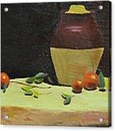 Crock With Fruit Acrylic Print