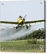 Crop Dusting Plane In Action Acrylic Print