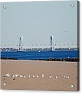 Cross Bay Bridge Acrylic Print