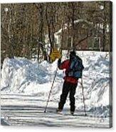 Cross Country Skier On Cape Cod Acrylic Print