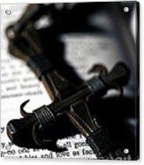 Cross On A Book Acrylic Print