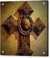 Cross On The Wall Acrylic Print