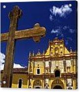 Cross Outside San Cristobal De Las Acrylic Print