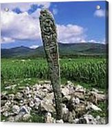 Cross Slab, Dingle Peninsula, Co Kerry Acrylic Print by The Irish Image Collection
