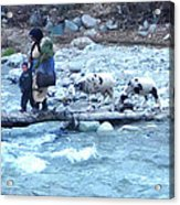 Crossing The Ourika River Acrylic Print
