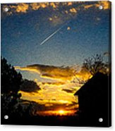 Crossing The Sky Acrylic Print by Sergio Aguayo