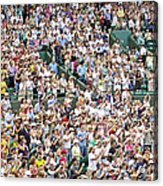 Crowd Of People Acrylic Print by Carlos Dominguez
