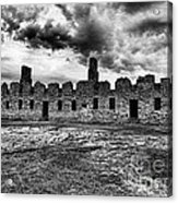 Crown Point Barracks Black And White Acrylic Print