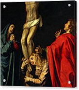 Crucification At Night Acrylic Print