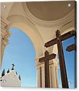 Crucifix At Basilica Of Our Lady Of Acrylic Print