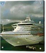 Cruise Ship In Port Acrylic Print
