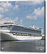 Cruise Ships At Cruiseport Boston Acrylic Print