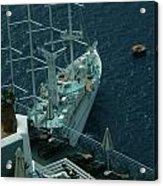 Cruiser In Santorini Island Acrylic Print
