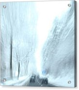Cruising In A Snowstorm Acrylic Print