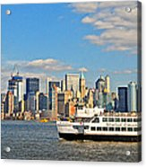Cruising Past The Freedom Tower Acrylic Print