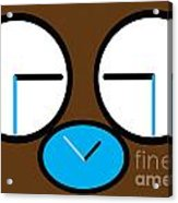 Crying Monkey In Clock Faces Acrylic Print