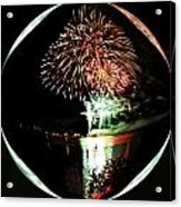 Crystal Ball Fireworks Acrylic Print