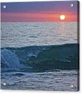 Crystal Blue Waters At Sunset In Treasure Island Florida 4 Acrylic Print