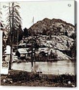 Crystal Lake And Black Butte - California - C 1865 Acrylic Print