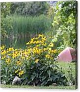 Crystal Lake State Park In Barton Vermont Acrylic Print