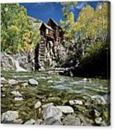 Crystal Mill In Autumn Acrylic Print