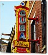 Cuba Libre Acrylic Print