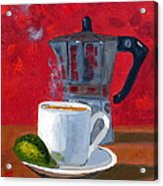 Cuban Coffee And Lime Red R62012 Acrylic Print