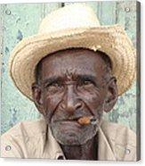 Cuba's Old Faces Acrylic Print