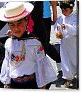 Cuenca Kids 117 Acrylic Print by Al Bourassa
