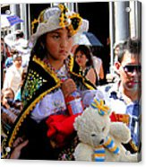 Cuenca Kids 188 Acrylic Print by Al Bourassa