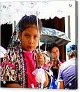 Cuenca Kids 190 Acrylic Print by Al Bourassa