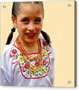 Cuenca Kids 203 Acrylic Print by Al Bourassa